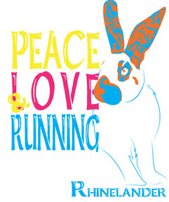 (Rhinelander) Peace Love & Running White