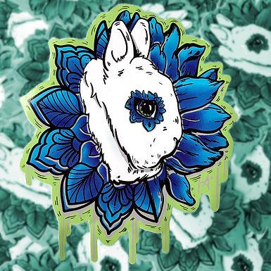 Dwarf Hotot Bloom Sticker