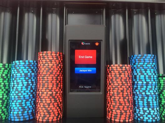 GES Poker System Dealer Handset mounted