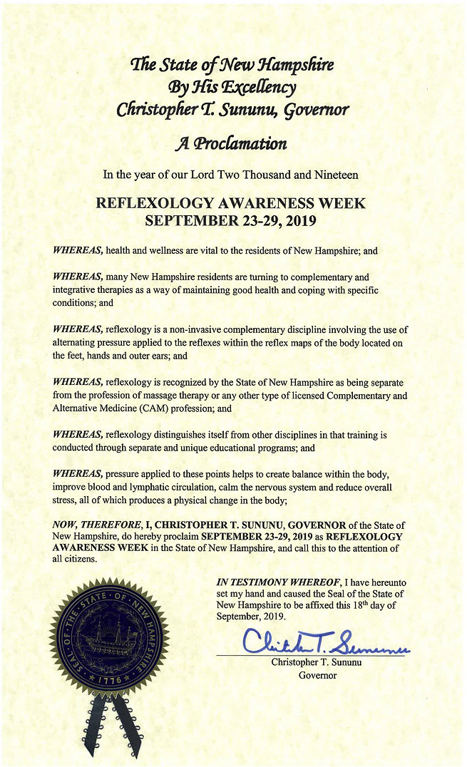 Reflexology-Awareness-Week--Proclamation