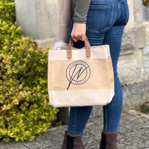 Wonderfully British Hessian Shopper Bag