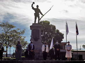 Presidente Alvarado llama a trabajar y cuidarse para rendir homenaje a la memoria de Juan Santamaría