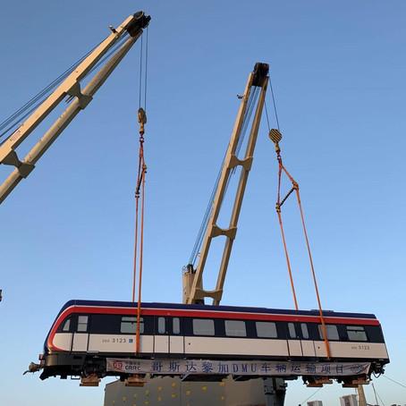 Llega al país segundo lote de trenes nuevos
