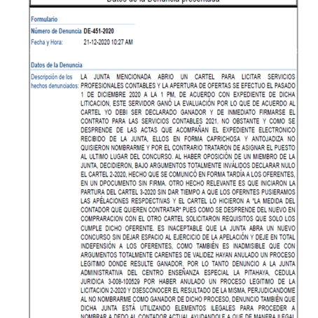 Denuncian a Junta de Centro de Educación Especial La Pitahaya por irregularidades en Licitación