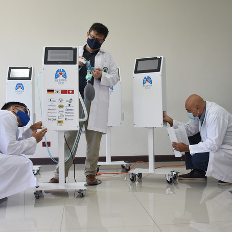 10 ventiladores construidos por la UCR serán donados a la Caja para pacientes Covid-19
