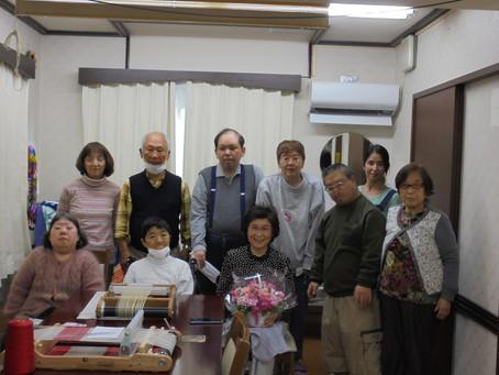 後藤さんと今日でお別れです、平成元年2月からのお勤めご苦労様です。