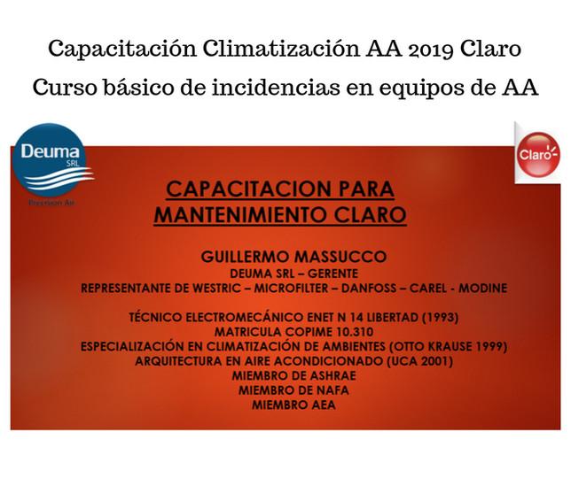 Capacitacion Climatizacion AA 2019 Claro