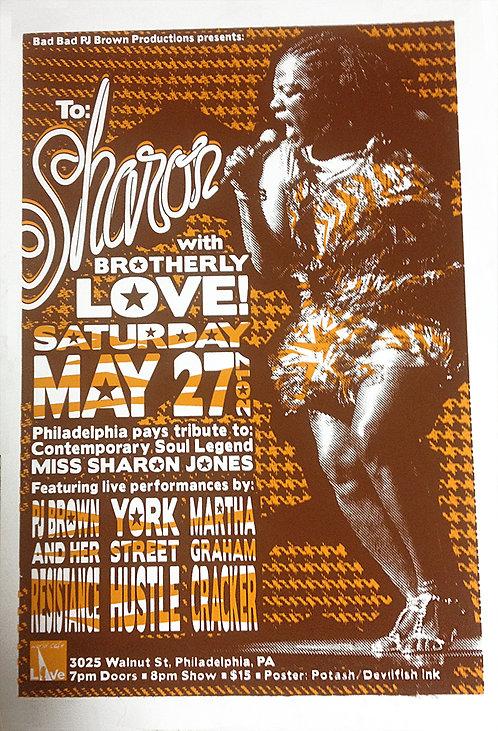 Sharon Jones Tribute Gig Poster