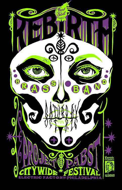 Rebirth Brass Band Glow-In-The-Dark Gig Poster