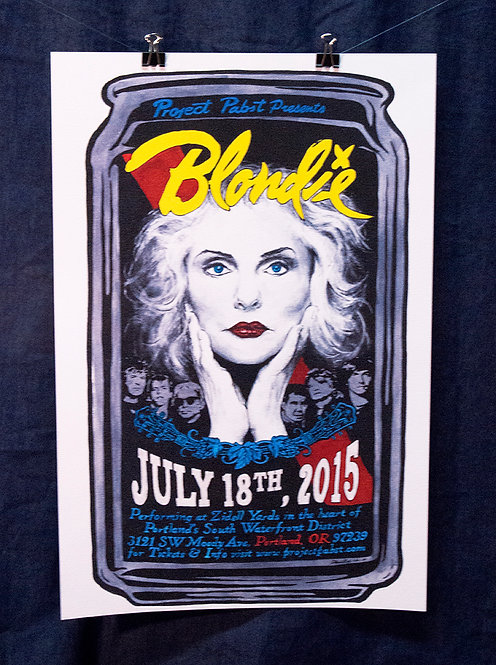 Project Pabst 2015 Blondie Poster