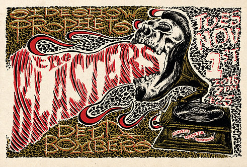 The Blasters Gig Poster