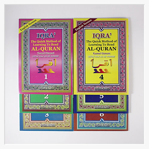 Complete set of Iqra' Books 1 to 6 (ENGLISH)