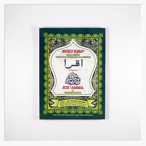 Buku Iqro' Dilengkapi Juz 'Amma & Terjemahnya