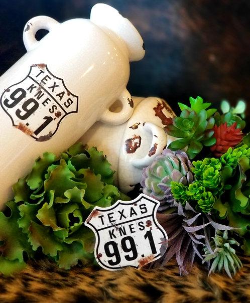 Vinyl waterproof KNES Texas 99..1 sticker.