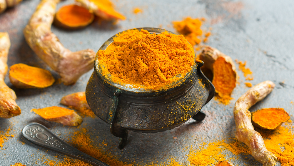 Image. Tumeric on the table
