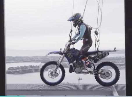 Yamaha Rider Rides Auckland Sky Tower