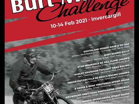 2021 Burt Munro Challenge Dates Set