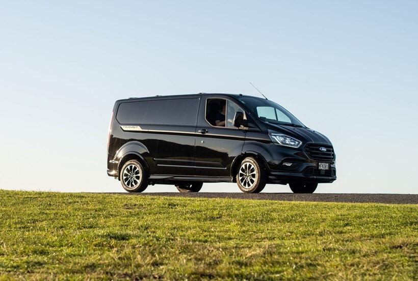 Black Ford Transit Van