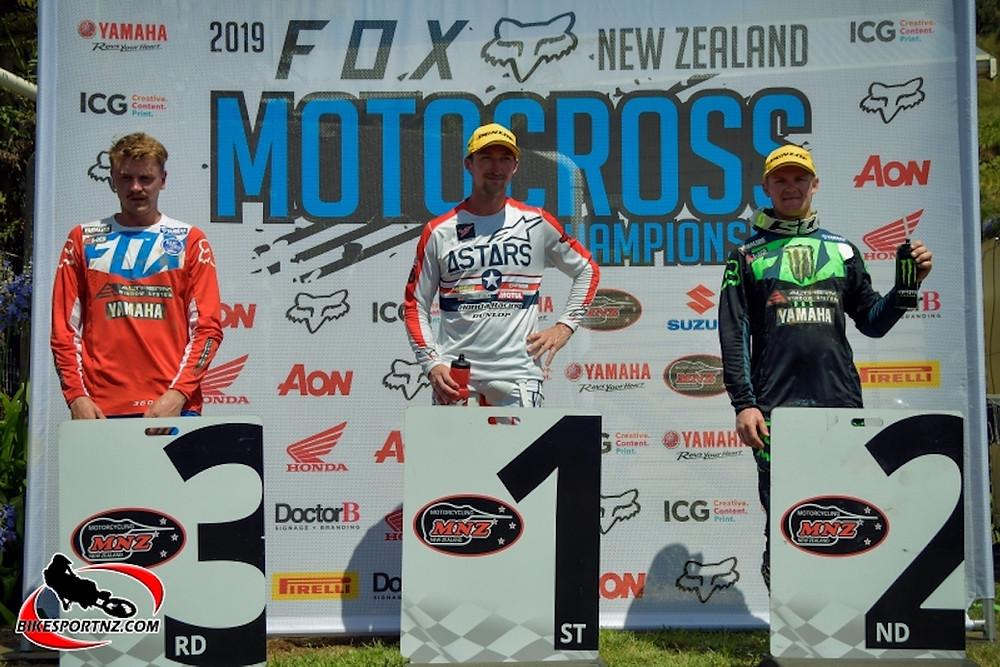 2019 NZMX Championship Round 1 Podium.