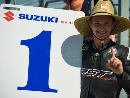 Visiting British Superbike Champ Cooper snatches Suzuki Series lead