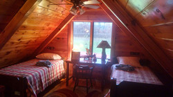 Loft with trwin beds