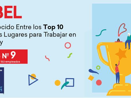 ISBEL en el top 10 de los mejores lugares para trabajar en Uruguay en 2021 según Great Place to Work