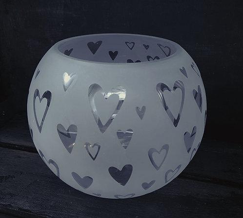 Heart bowl vase