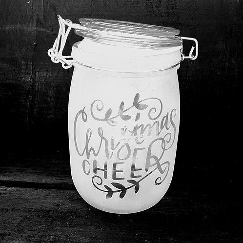 Christmas cheer medium jar