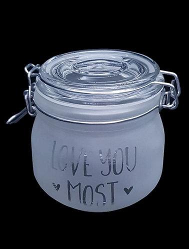 'love you most' clip jar