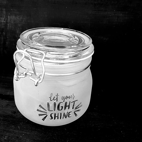 Let your light shine small jar