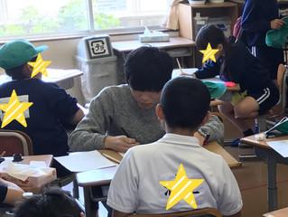 阿南市の小学校のイベントに参加
