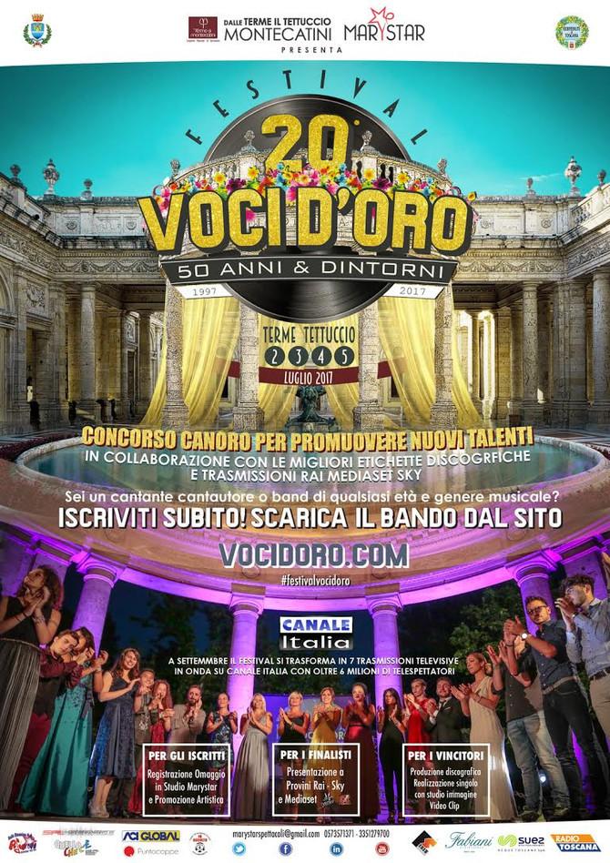 """Locandina e programma 20° Festival Voci d'Oro """"50 anni & Dintorni"""""""
