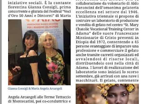 """ll Festival Voci d'Oro """"50anni & Dintorni"""" è anche solidarietà..."""