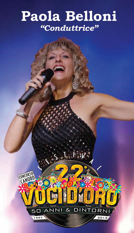 Paola Belloni conduttrice e ospite al 22° Festival voci d'oro 2019.