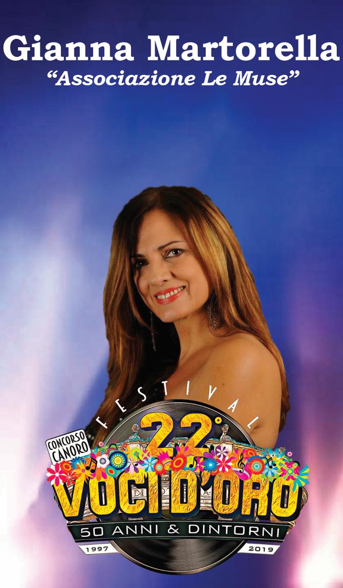 Gianna Martorella Testimonial e giurata del 22° Festival Voci d'Oro 2019