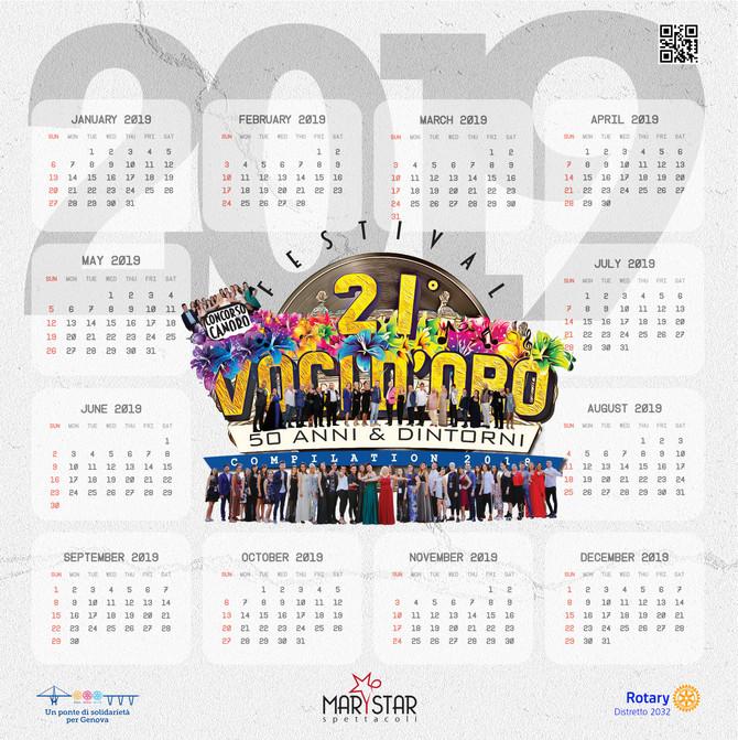 Calendario Marystar 2019