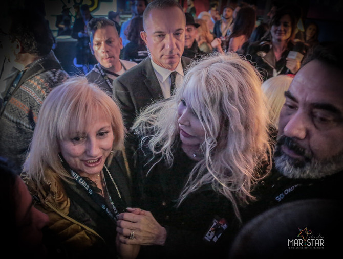 Con Ivana Spagna a Sanremo durante il 68° Festival della canzone italiana