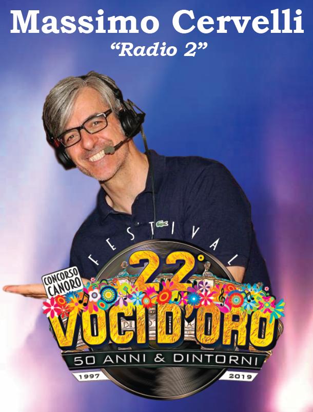 Massimo Cervelli di Rai Radio 2 al Festival Voci d'Oro 2019