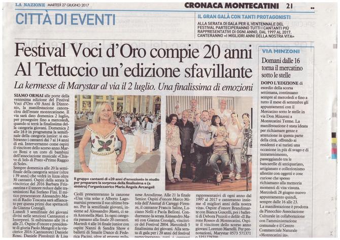La Stampa parla del 20° Festival voci d'oro