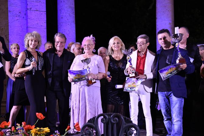 I primi tre cantautori senior del Festival voci d'oro 2019.