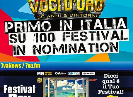 Il Festival Voci d'Oro è Primo in Italia su 100 Festival.