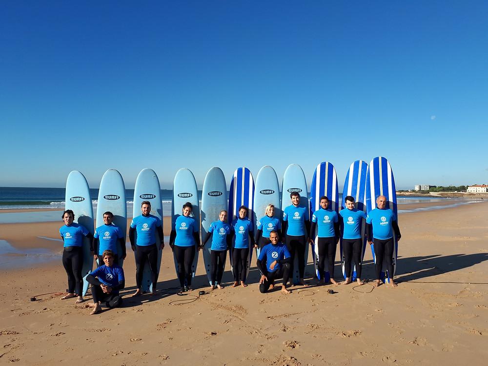 Primeira aula de Surf