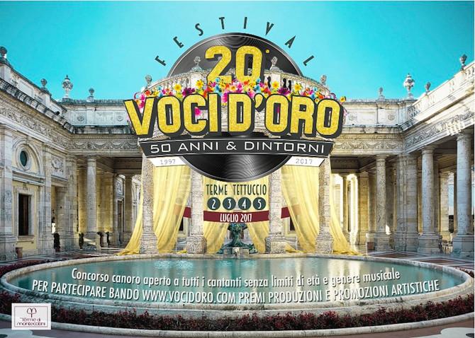 """Aperte Iscrizioni 20esimo Concorso canoro Festival Voci d'Oro """"50 anni & Dintorni"""""""