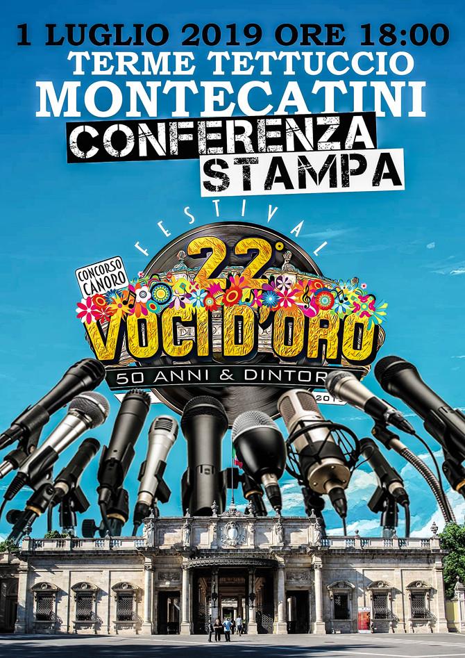Invito Conferenza stampa del 22° Festival Voci d'Oro 2019