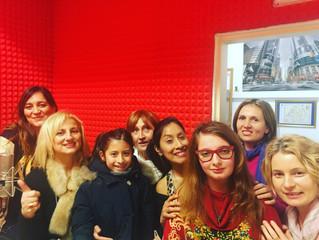 In radio con i Junior del Festival Voci d'Oro
