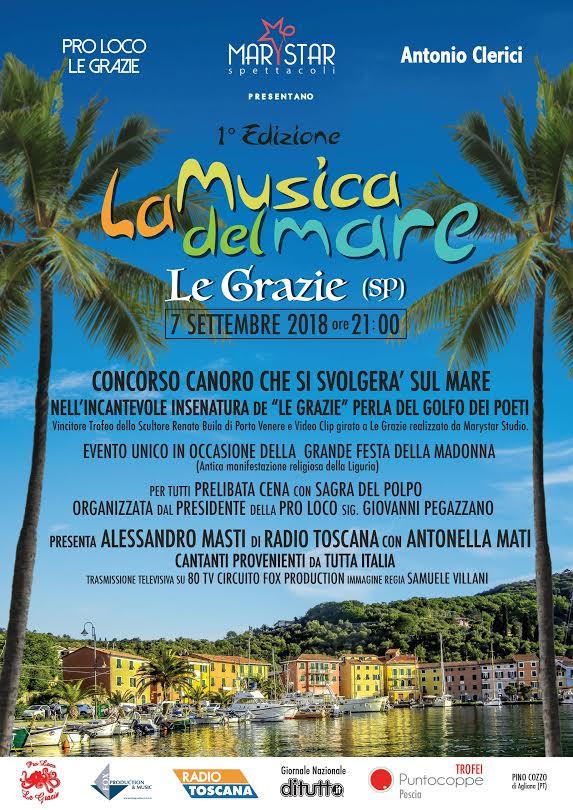 """Nuovo Evento Marystar """"La Musica del Mare"""" in Liguria a settembre."""