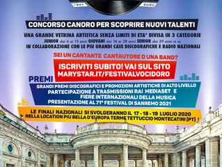 Per tutti i cantanti sono aperte iscrizioni 23° Festival Voci d'Oro 2020