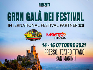 Il Festival Voci d'Oro al Gran Gala dei Festival di San Marino 2021