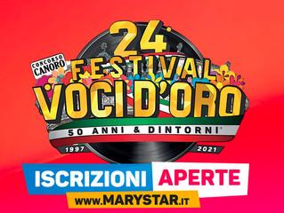 Il Via Iscrizioni cantanti del 24° Festival Voci d'Oro 2021