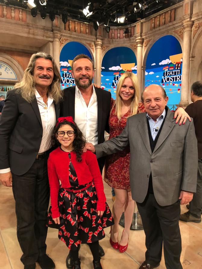 Giulia Golia 11 anni Vincitrice del 20° Festival voci d'Oro oggi ospite su RAI DUE